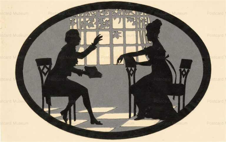 sib009-Die Cut Paper Silhouette Singing Lessons Music