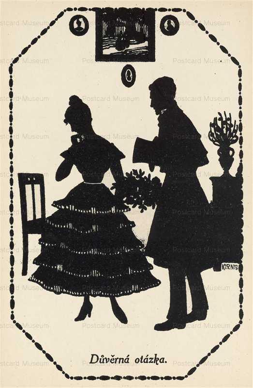 sib027-Romance Couple Silhouette