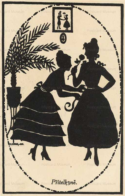 sib028-Two Women Silhouette
