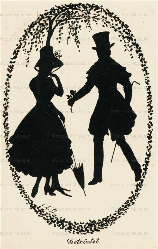 sib029-Couple in Love Silhouette