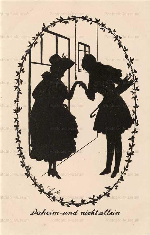sib030-Couple Kissing Hand Silhouette