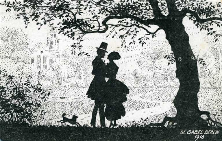 sib047-Couple under the Tree Silhouette