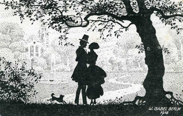 sib047-Couple under the Tree Silhouette