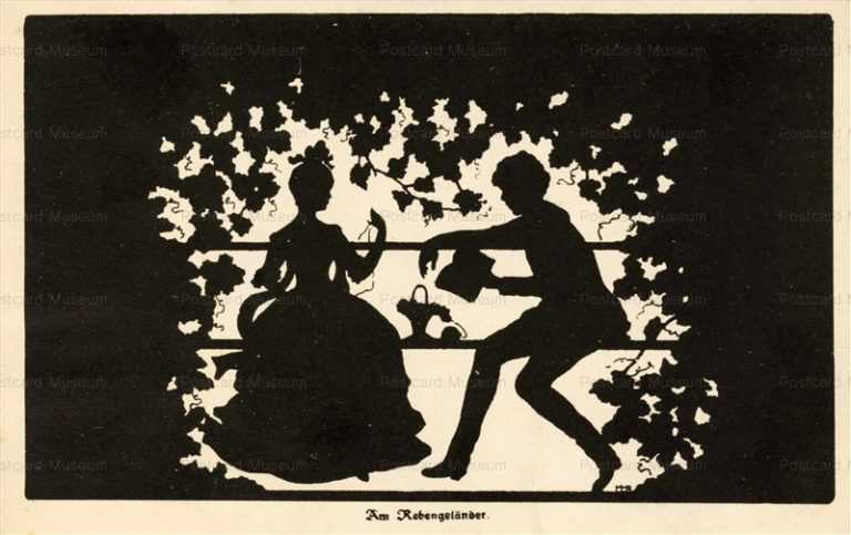 sib050-Couple in Arbour Silhouette