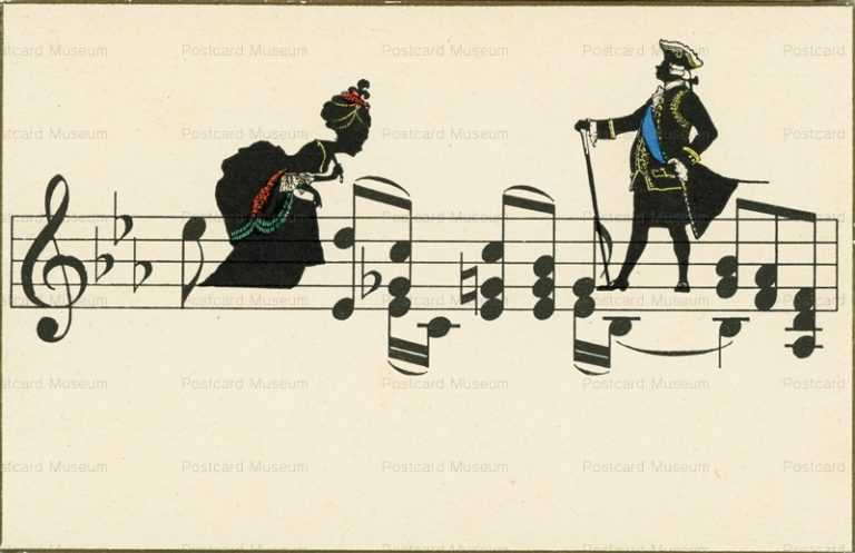 sib085-Silhouette Staff Notation Aristocrat