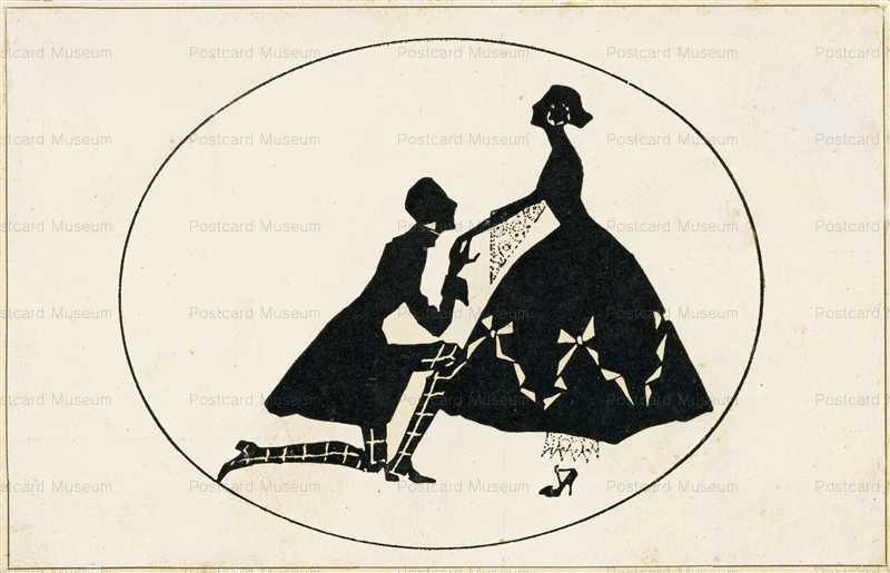 sib100-Lover Kneels Girl Silhouette