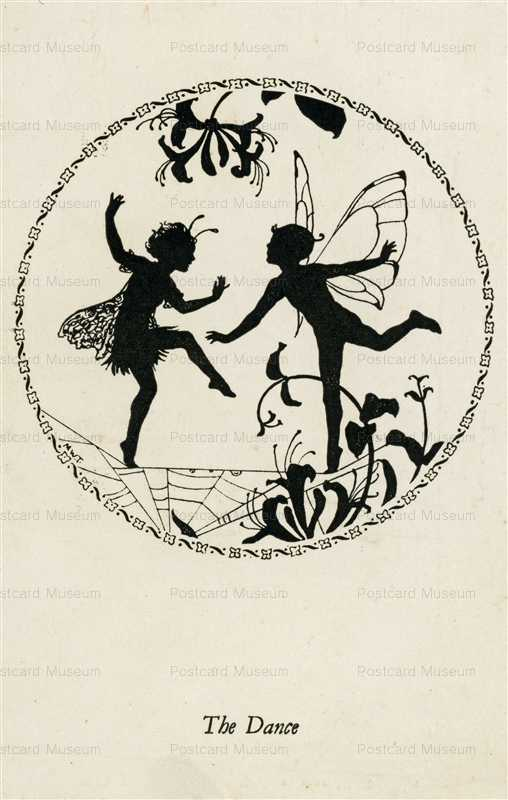 sib525-Margaret Winifred Tarrant Elfin Series Silhouette the Dance