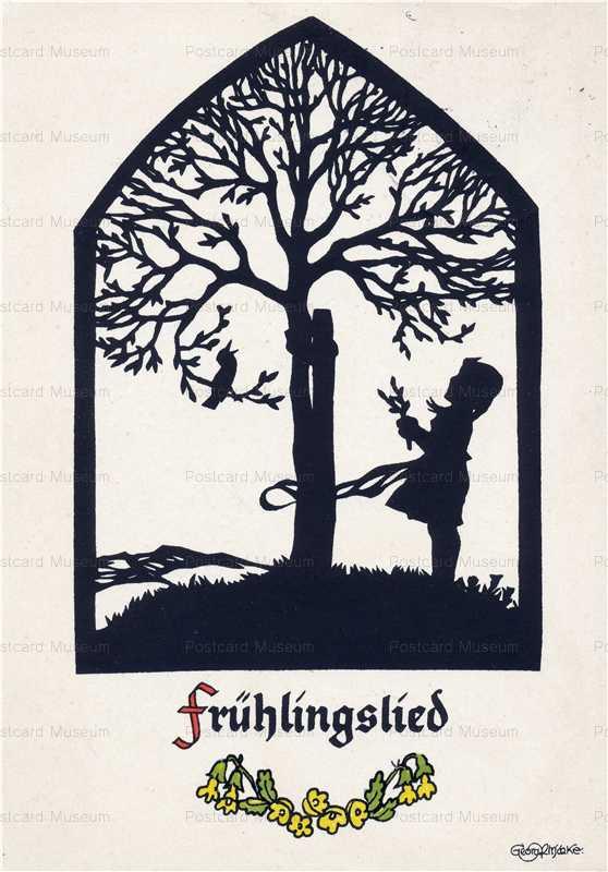sib587-Girl Tree Bird Fryhlingslied