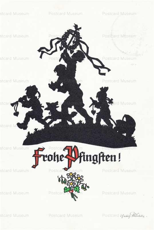 sib590-Children Dog Frohe Pfingften