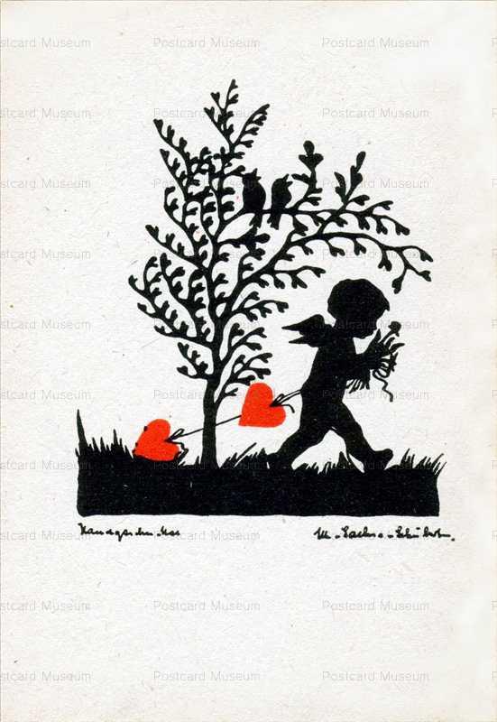 sib596-Fairy Boy Carry Heart Silhouette
