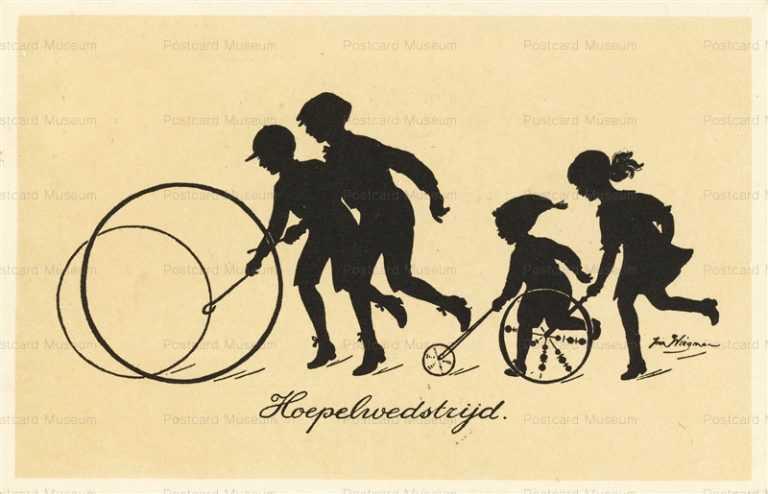 sib666-Silhouette Children Play Circle