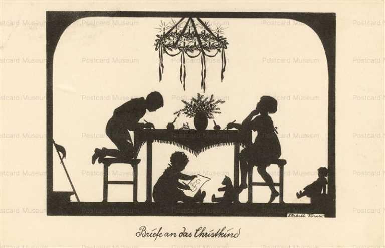 sib690-Silhouette Briefe & Christkind Elsbeth Forck