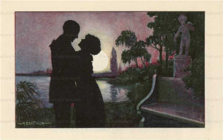 sic041-Aurelio Bertiglia Silhouette of lovers in Sunset