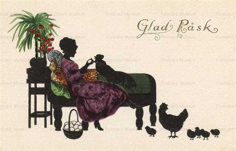sic240-Easter Chick & Eggs Glad Rask