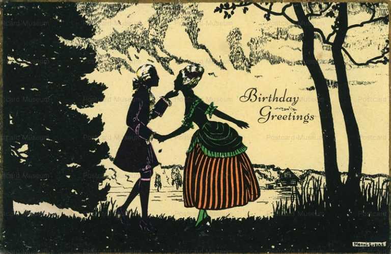 sic330-Manni Grosze Silhouette Elegant Love Couple Birthday