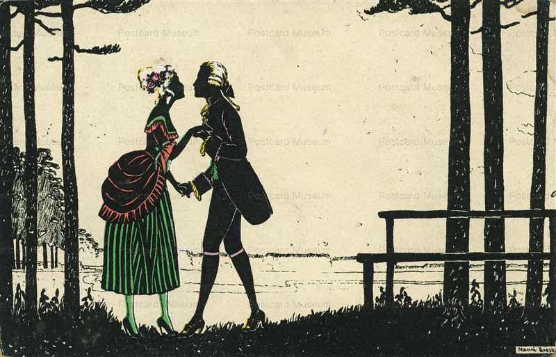 sic335-Manni Grosze Silhouette Love Romance Couple