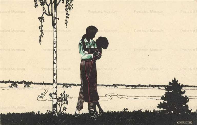 sic345-Manni Grosze Silhouette Love Romance Couple