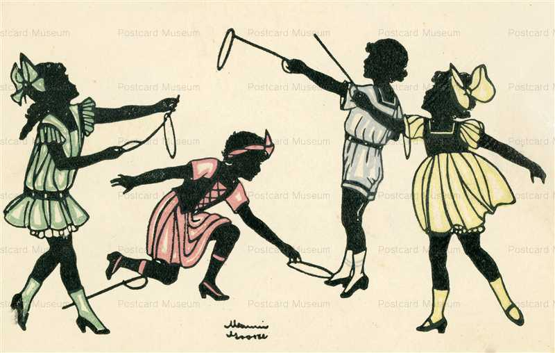 sic380-Manni Grosze Silhouette Playing Children