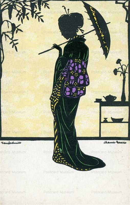 sic395-Manni Grosze Japanese Lady with Parasol