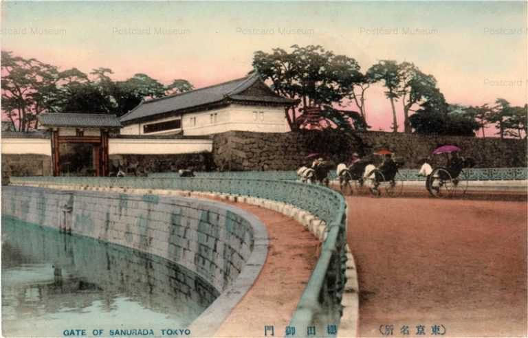 ts430-Gare of Sakurada Tokyo 桜田御門 東京名所