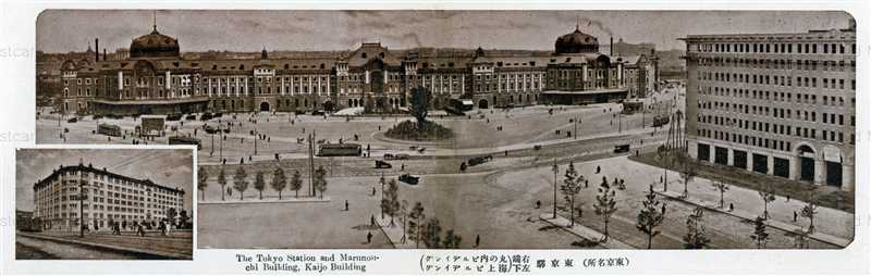 tsb086W-Tokyo Station Marunouchi,Kaijo Building 京駅 右端丸の内 左下海上ビルディング