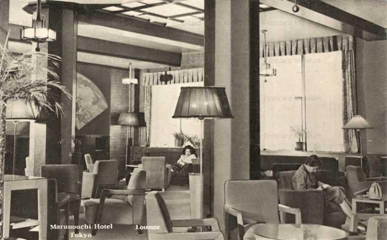 tsb415-Marunouchi Hotel Lounge 丸の内ホテル 1950s