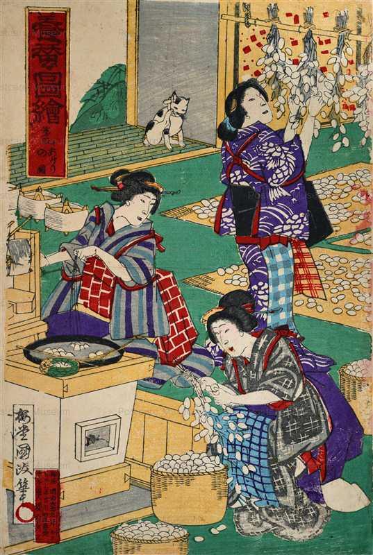 uzo300-梅堂国政 養蚕図絵 第五あがりの図