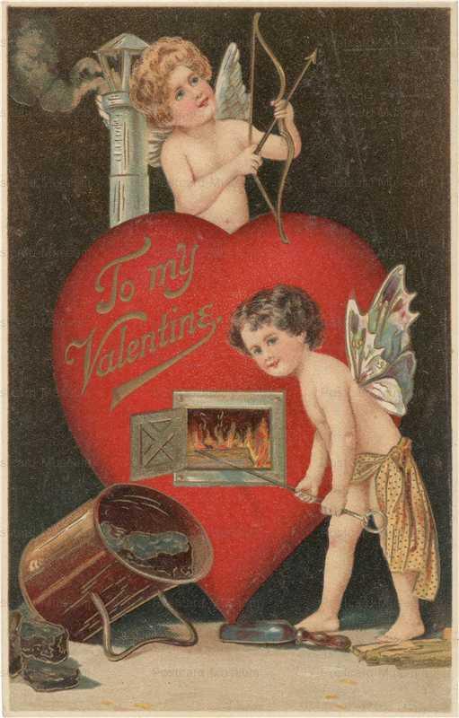 v190-Valentine Cupids Melt Iron