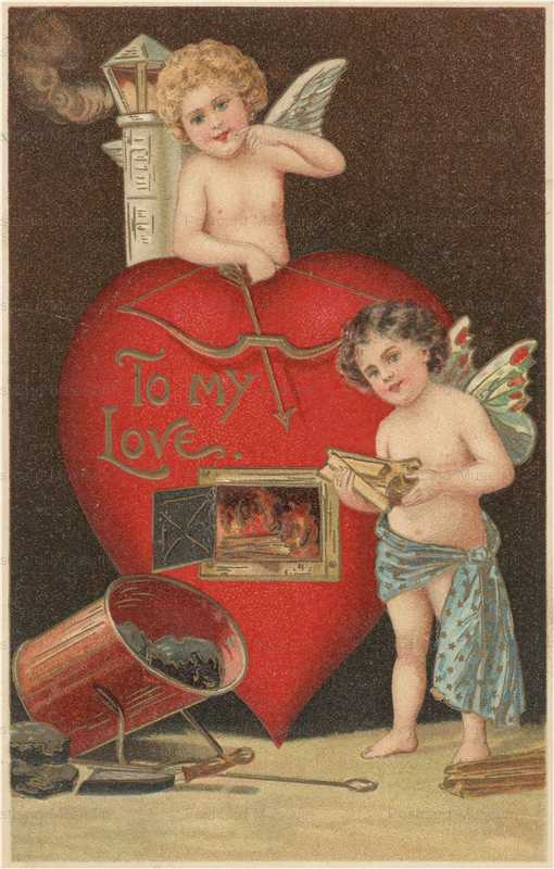 v195-Valentine Cupids Melt Iron
