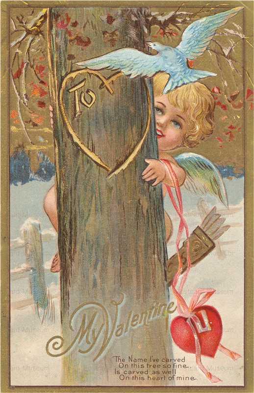 v205-Valentine Cupid Tree