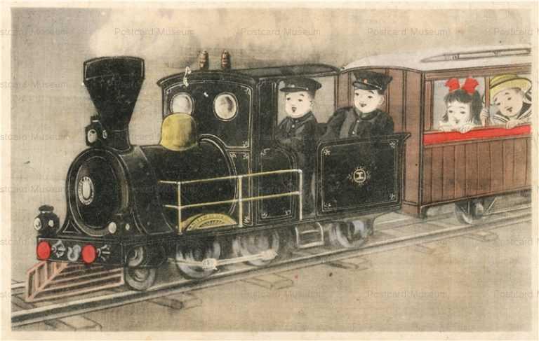 w406-汽車に乗る子供達