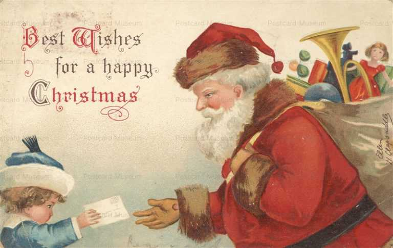 xm460-A Happy Christmas Santa Claus