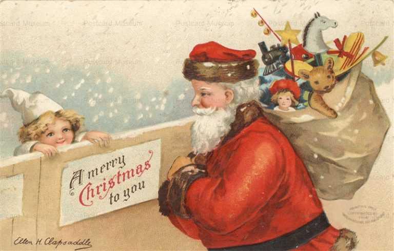 xm465-Christmas Santa Toy Ellen H Clapsaddle