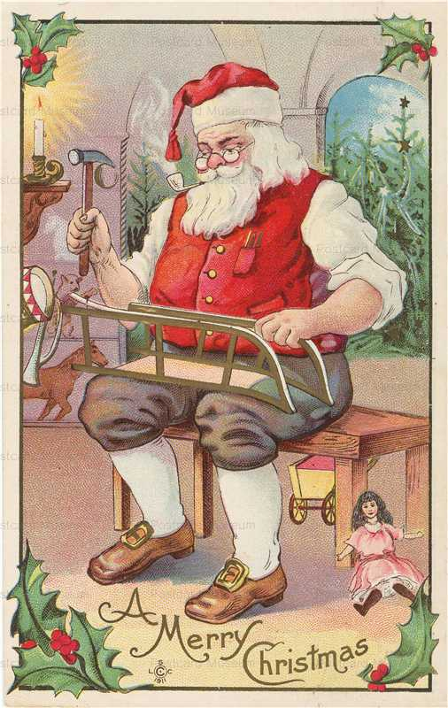 xm508-Santa Claus with Doll