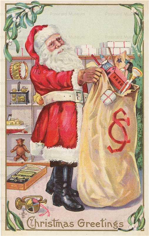 xm509-Santa Claus with Toys