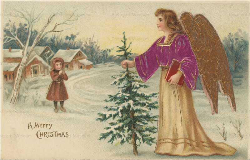 xm645-Merry Christmas Angel