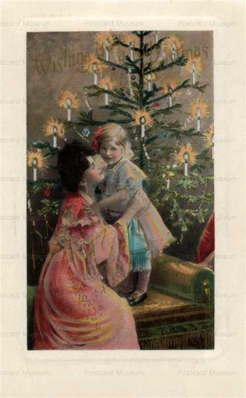 xm980-Tree Candle Mother with Girl