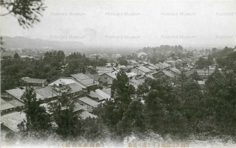 er1180-Park Kazuno 万山林遊園地より下通り遠景 秋田縣鹿角郡
