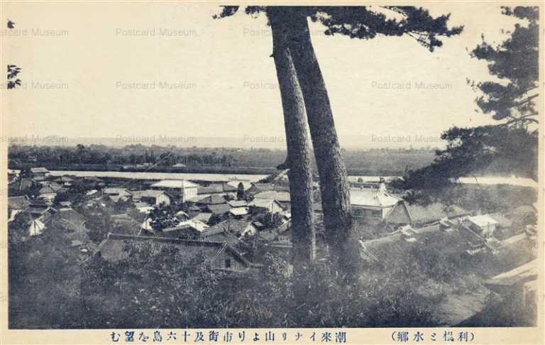 ll1120-Juroku Island from Itakoyama Ibaraki 潮来イナリ山より市街及十六島を望む 茨城
