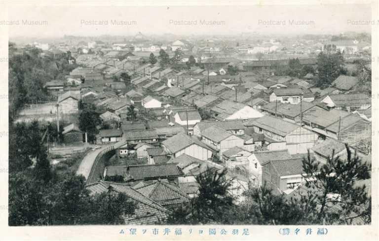 hf490-Asuwa Park View Fukui 足羽公園ヨリ福井市ヲ望ム 福井名勝
