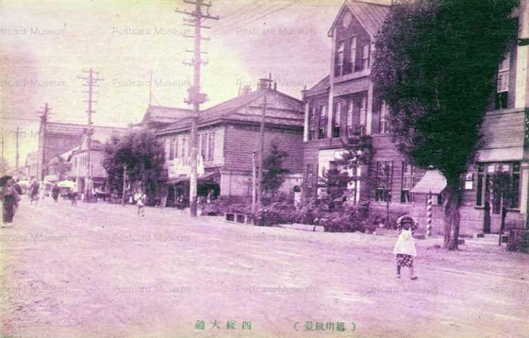 ha455-Shijodori Asahikawa 四篠大通 旭川風景