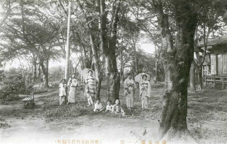 er1160-Sakurayama Park Hanawa Kazuno 櫻山公園ノ一部 花輪町 秋田縣鹿角郡