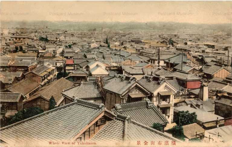 yb160-Whole view of Yokohama 横浜市街全景