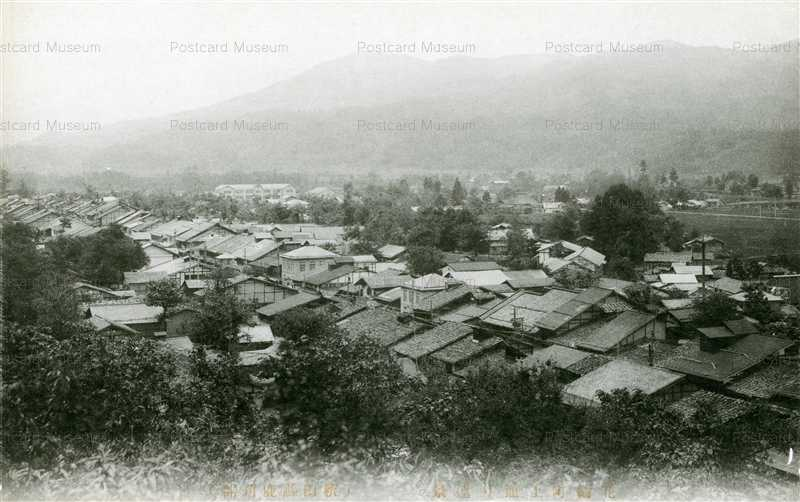 er1190-Hanawa Kazuno 花輪町上通り遠景 秋田縣鹿角郡