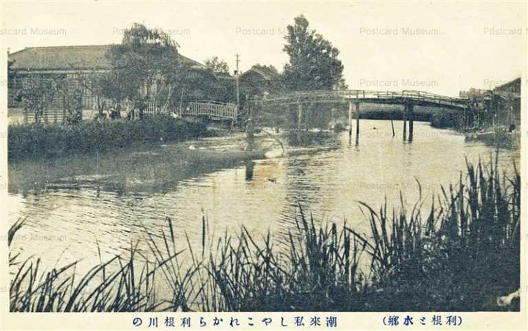 ll1070-Tonegawa Itako Ibaraki 潮來私しやこれから利根川の 利根と水郷 茨城