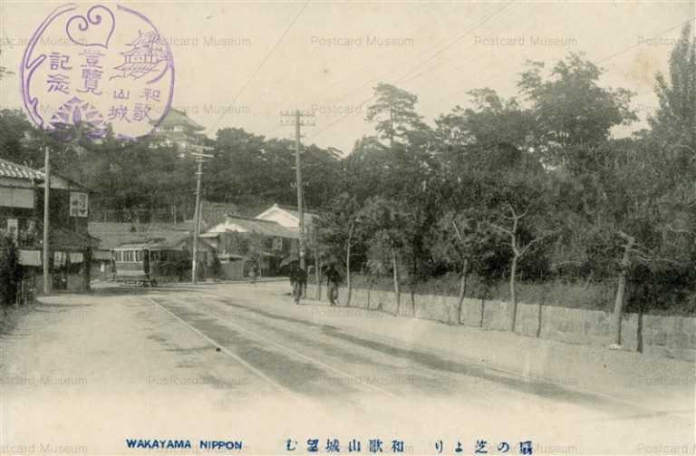 zy130-Wakayama castle 扇の芝より 和歌山城望む