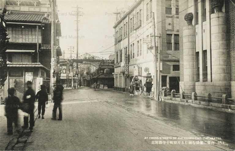 xk170-Cross-streets Katahara-cho Takamatsu 片原町十字路付近 高松