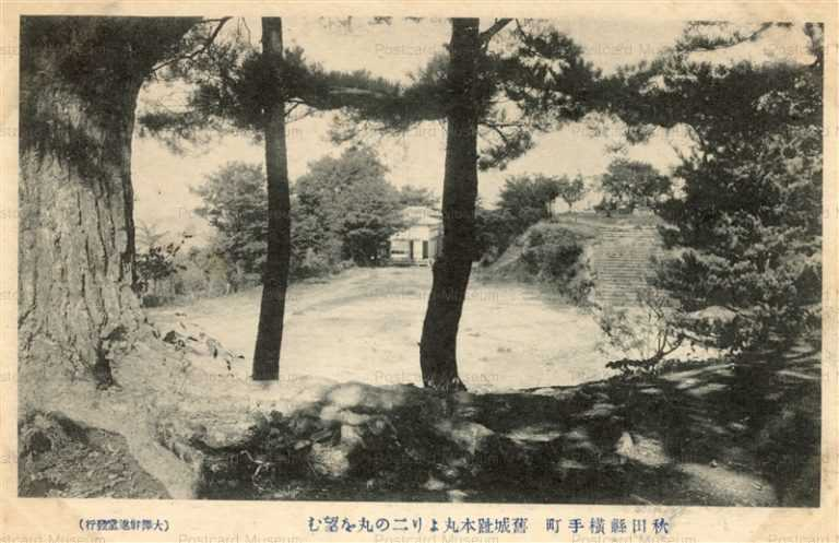 er850-Castle Ruin Yokote 旧城跡本丸より二の丸望む 横手町