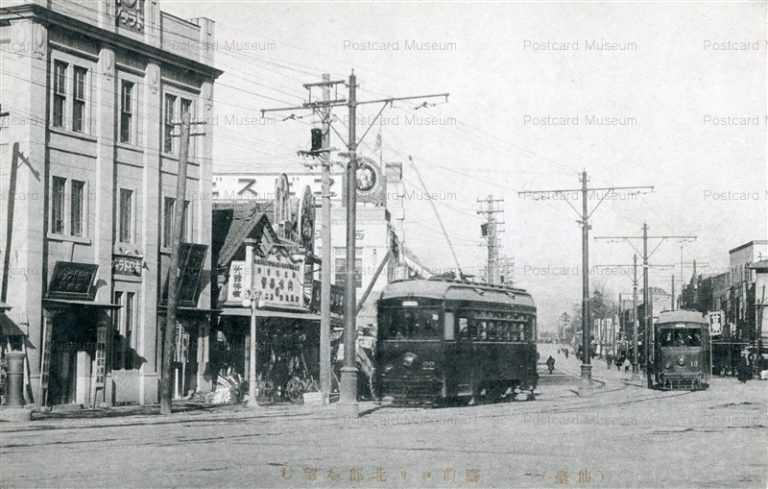 se055-Sendai Station 驛前ヨリ北部を望む 仙臺