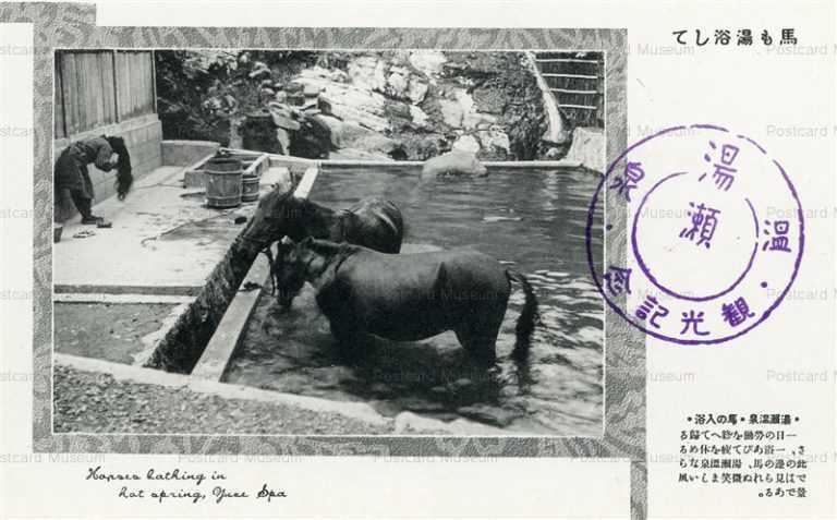 er1110-Yuze Spa 湯瀬温泉 馬の入浴